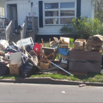 Residential cleanouts in front yard