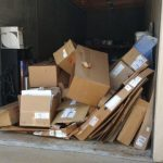 Trash Pickup & Removal Services from a garage