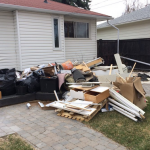 estate cleanout at a residential area