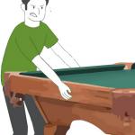 guy lifting a pool table