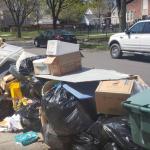 Garabage and junk on a yard
